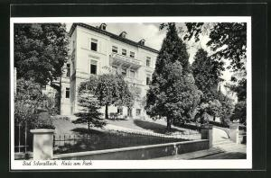 AK Bad Schwalbach, Hotel Haus am Park