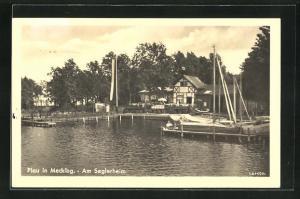 AK Plau i. M., Uferpartie am Seglerheim