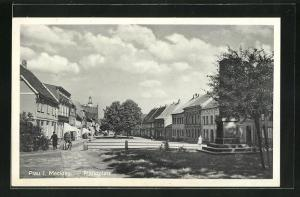 AK Plau i. M., Blick auf den Marktplatz
