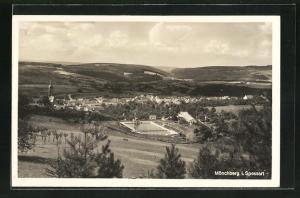 AK Mönchberg / Spessart, Panoramablick vom Berg