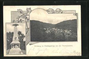 AK Wirsberg / Fichtelgebirge, Blick von der Theresienhöhe