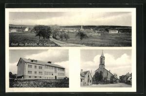 AK Eschbach, Neue Schule, Kirche, Gesamtansicht