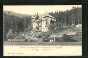 AK Bärenburg / Sächs. Erzgeb., Hotel Bergfried am Waldrand
