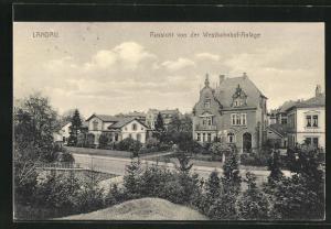 AK Landau, Strassenpartie in der Westbahnhof-Anlage