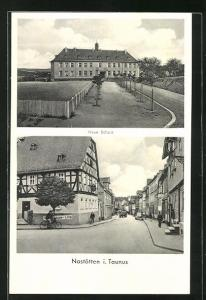 AK Nastätten i. Taunus, Neue Schule, Strassenpartie