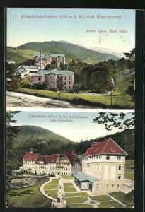 AK Friedrichsheim, Ortsansicht mit Kandertal, Luisenheim
