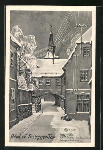 AK Adorf i. V., Freiberger-Tor im Winter