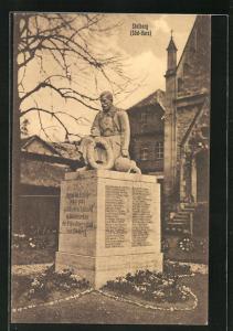AK Stolberg / Südharz, Kriegerdenkmal