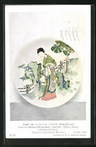 AK Dish of Famille Verte Porcelain, Chinese 1662-1722