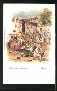 Künstler-AK Java, Eetwaren-verkooper