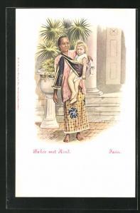 Künstler-AK Java, Baboe met Kind