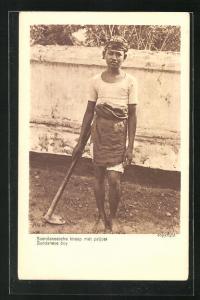 AK Indonesien, A Sundanese Boy at work
