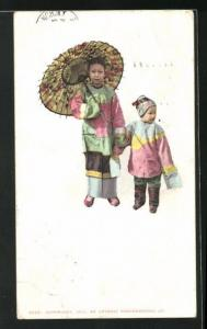 AK Chinese woman with little child