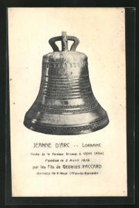 AK Vichy, Glocke Jeanne d`Arc der Kirche