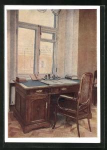 AK Moskau, Lenin-Kabinett im Kreml, Lenins Schreibtisch