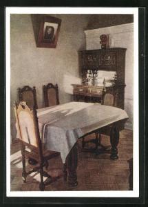 AK Moskau, Lenin-Kabinett im Kreml, Tisch und Stühle