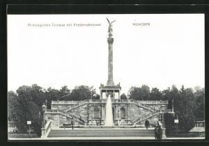 AK München, Prinzregenten-Terrasse mit Friedensdenkmal