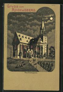 Mondschein-AK Bingen, Blick zur Rochuskapelle
