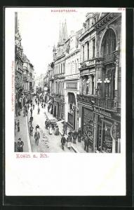 AK Köln, Hohestrasse mit Geschäften