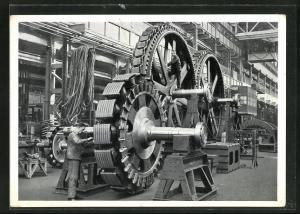 AK Berlin-Siemensstadt, Dynamowerk der Siemens-Schuckertwerke AG, Polräder für Drehstrom-Synchron-Generator