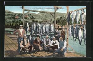 AK Santa Catalina Island, California, A Catch of Albacore, Fischerei