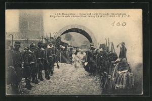 AK Dauphiné, Couvent de la Grande Chartreuse, Expulsion des Pères Chartreux, 29.4.1903
