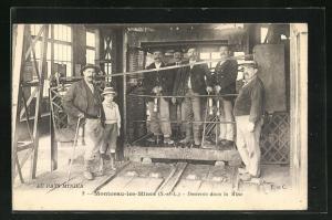 AK Montceau-les-Mines, Descente dans la Mine