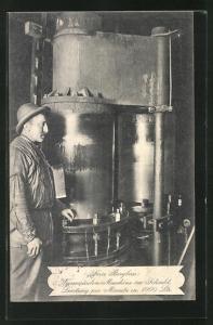 AK Wassersäulenmaschine im Schacht, Leistung pro Minute ca 1000 Liter