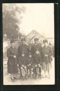 AK Bergleute mit ihrer Familie