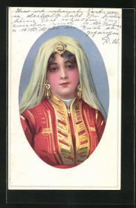 AK Reiche türkische Frau in Tracht