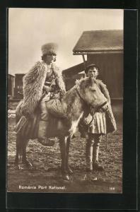 AK Rumänische Hirten mit Pony