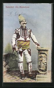 AK Stolzer Rumäne in Tracht