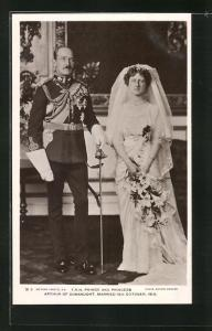 AK T. R. H. Prince and Princess Arthur of Connaught, Married 1913