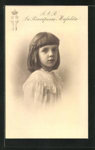 AK S. A. R. la Principessa Mafalda von Italien im hübschen Kleid