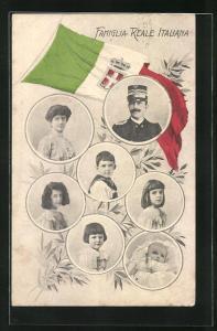 AK Famiglia-Reale Italiana, Königsfamilie von Italien