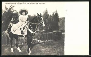 AK La Principessa Iolanda nei giardini del Quirinale