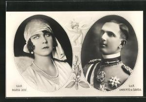AK Maria José und Umberto di Savoia