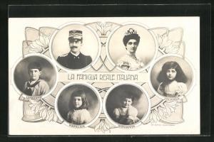 AK La Famiglia Reale Italiana, Königsfamilie von Italien