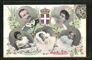 AK Famiglia Reale Italiana, Portraits der ital. Königsfamilie