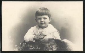 AK La Principessa Mafalda, Prinzessin von Italien