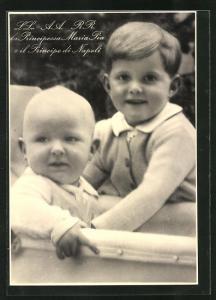 AK La Principessa Maria Pia e il Principe di Napoli