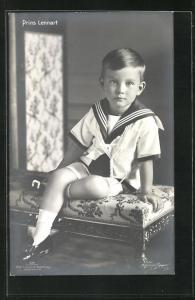 AK Prinz Lennart von Schweden in Matrosenuniform