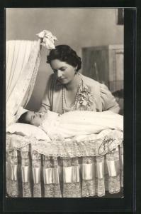 AK Prinzessin Sibylla von Schweden mit Prinzessin Desiree