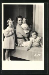 AK Prinzessin Sibylla von Schweden und Prinzessinnen Margaretha, Birgitta und Desiree