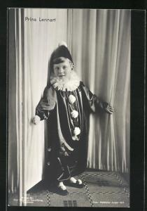 AK Prinz Lennart von Schweden im Clownskostüm