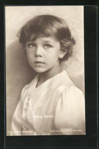 AK Prinz Bertil von Schweden, Kopfportrait