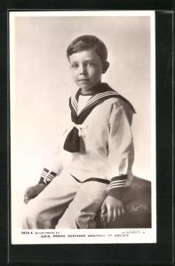 AK Prinz Gustaf Adolf von Schweden als Knabe