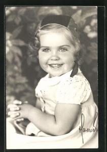 AK Prinzessin Margarete von Schweden als Kleinkind