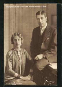 AK Kronprinz Gustaf Adolf mit Kronprinzessin Louise