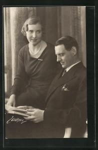 AK Prinzessin Ingrid und Kronprinz Frederik